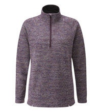 Relaxed, casual fleece with a half-zip opening.