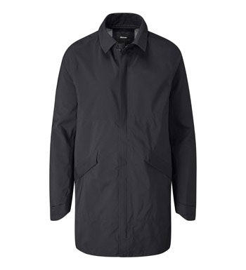 Waterproof, breathable mac for city travel.