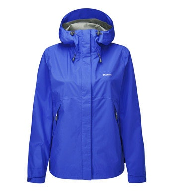 Lightweight, packable waterproof jacket.