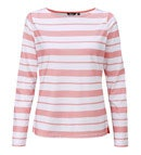 View Strata Top  - Coral Stripe