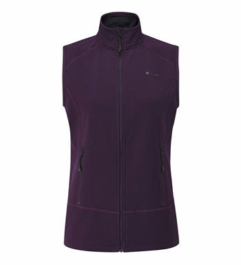 Active wear, cold-weather vest with stretch.