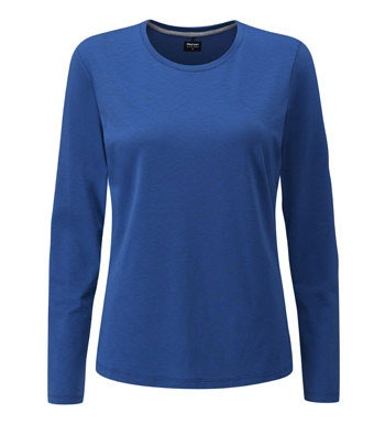 Technical, cotton-feel long-sleeved T.