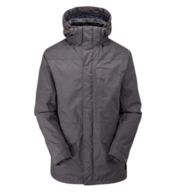 Long parka-style jacket with Barricade™ system and Insuloft™.