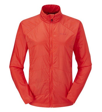 Lightweight and highly packable insulated jacket.