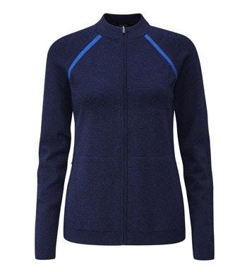 Versatile zip jacket made with Merino Fusion yarn.